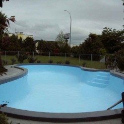Concrete Pool After-Painted In Epotec Mid Blue