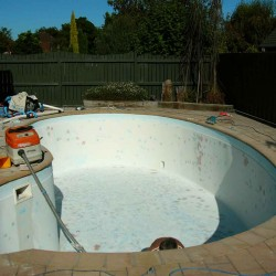 Fibreglass Pool Before